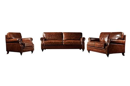 Classic Kensington Leather Sofa Set Brown Furniture Manufacturer