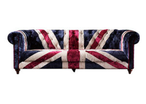 Union Jack Serpentine Sofa A105