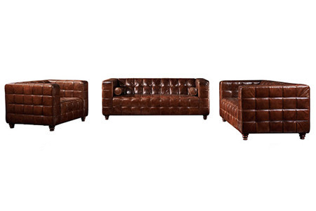 Vintage Distressed Leather Sofas