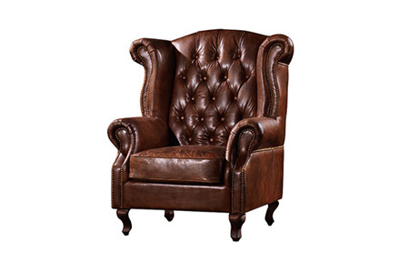 Awesome High Back Wing Chairs Vintage Style Leather Machost Co Dining Chair Design Ideas Machostcouk