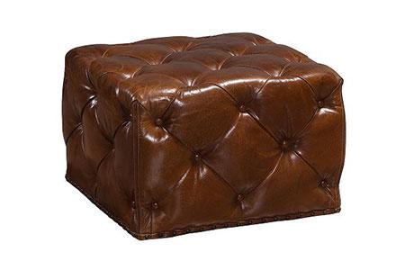 Peachy Manhattan Leather Ottoman Small Tufted Ottoman In Rectangle Theyellowbook Wood Chair Design Ideas Theyellowbookinfo