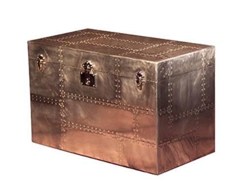 Phantom Trunk Large Aluminum Side Table