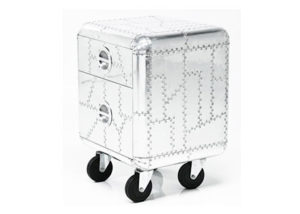 aluminum trunk side table