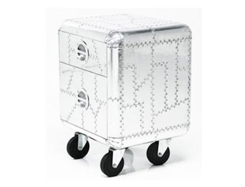 aluminum trunk side tables with wheels