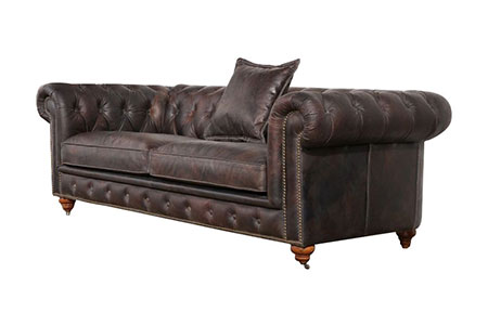Chesterfield Sofa Genuine Leather
