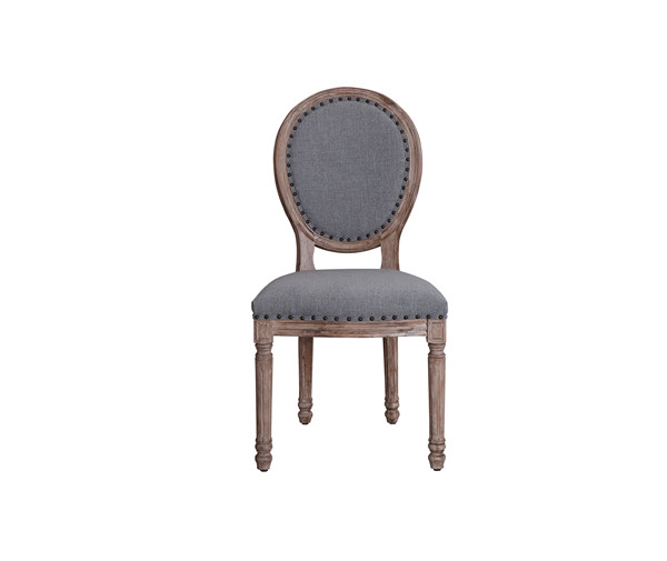 VINTAGE FRENCH ROUND FABRIC SIDE CHAIRS